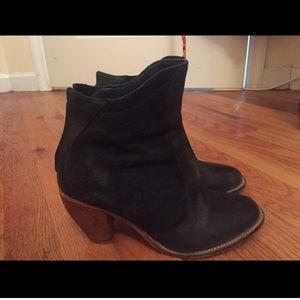 J. Shoes black ankle bootie